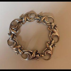 Vintage Sterling Silver Unique Design Bracelet